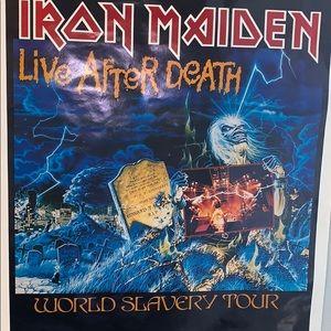 Iron Maiden Wall Art - 1985 Iron Maiden Life After Death Poster